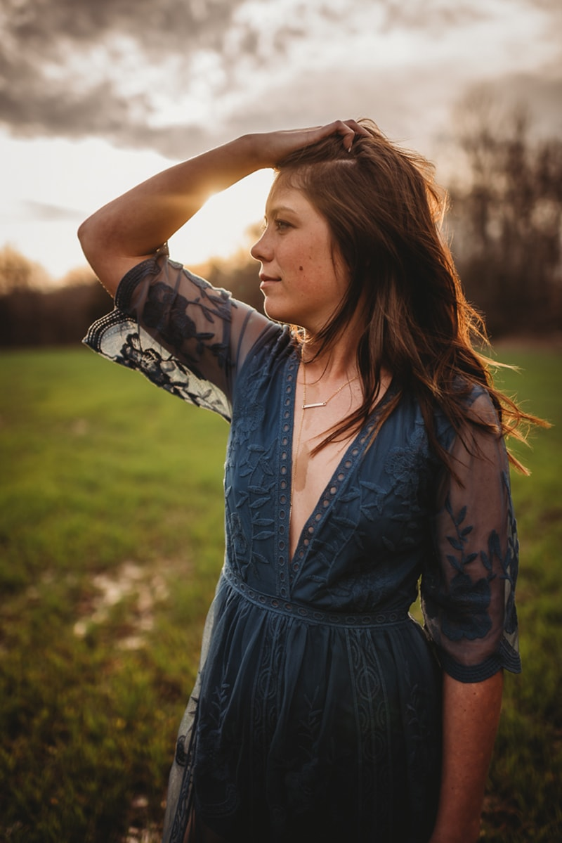 Senior Photography, girl with the sunset in the background