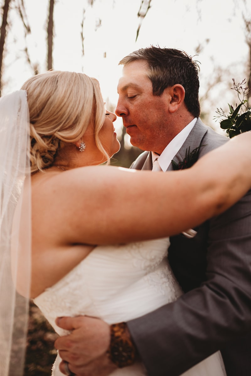 Wedding Photography, bride and groom about to kiss