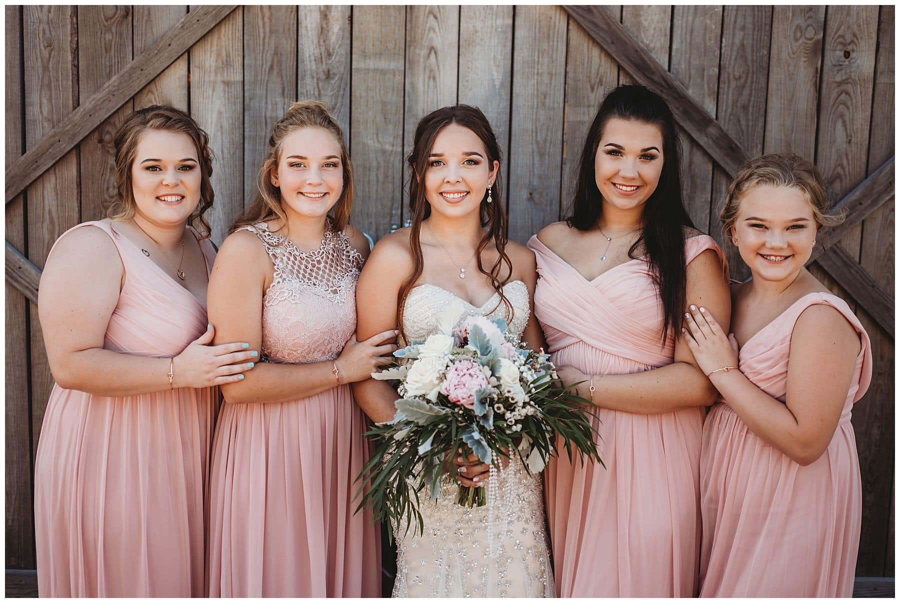 bride with bridesmaids portraits