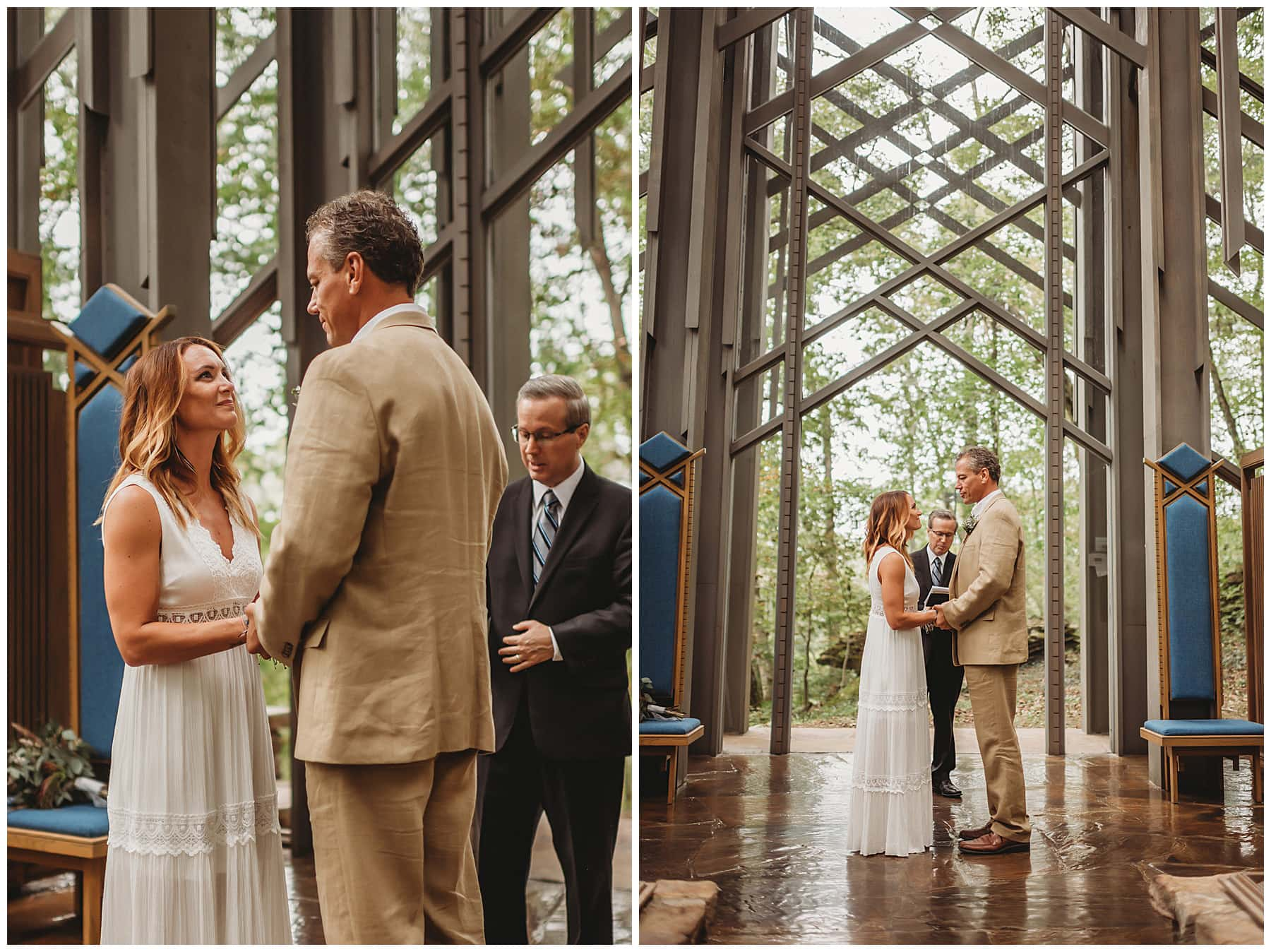 ceremony at Throncrown Chapel