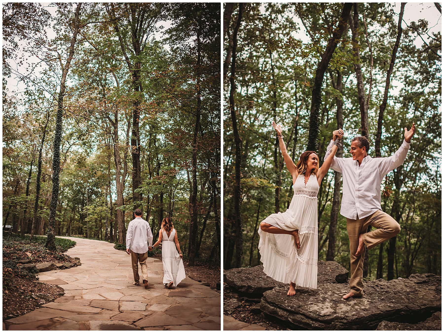 yoga wedding couple photos