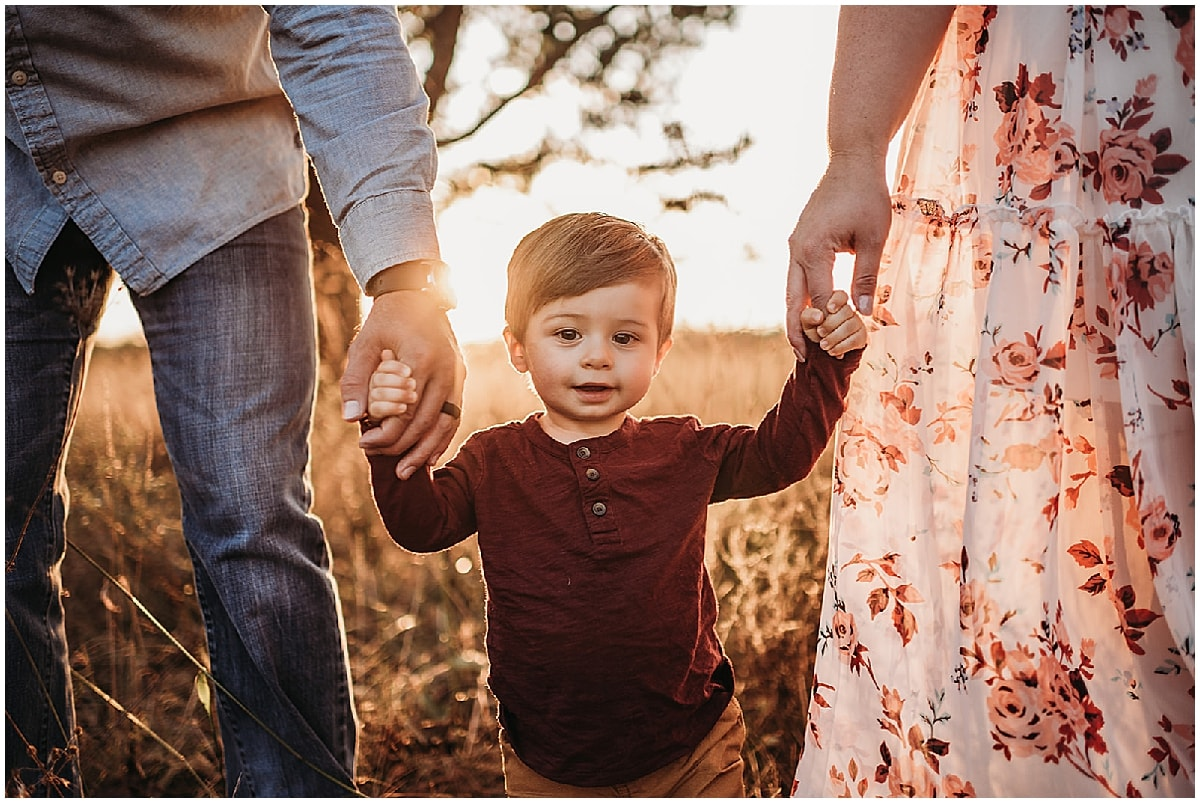 family session with little boy