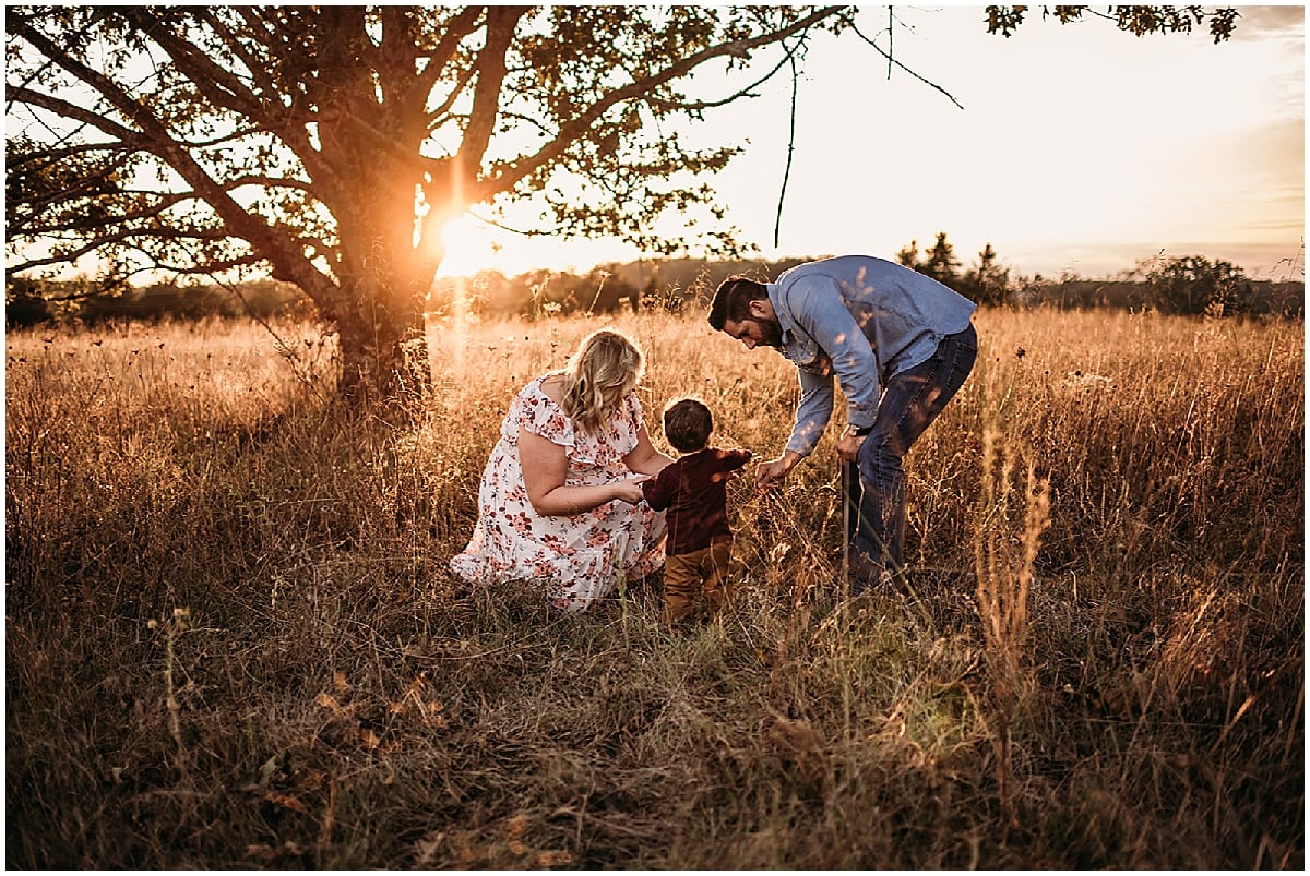 family session in field
